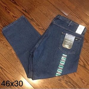 5 Pocket Relaxed Fit Mens Denim Jeans 46x30 NWT